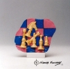 Chess Trophy Pink-Blue